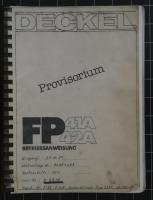 Deckel Betriebsanweisung für FP41A/42A mit CNC 2301 Steuerung