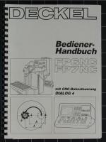 Deckel Bediener-Handbuch für FP6NC, FP7NC mit Dialog-4 Steuerung