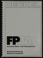 Deckel FP3A Betriebsanweisung Bediener-Handbuch CNC2102