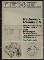Deckel Bediener-Handbuch CNC-Bahnsteuerung Dialog 2 und 3