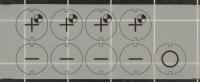 Satz Einlegefolien passend für das Bedienpult von Deckel NC Fräsmaschinen mit Dialog 1-4 Steuerung