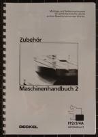 Deckel Contour-3 FP2/3/4A Maschinenhandbuch 2, Zubehör