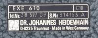 Heidenhain EXE 610  Id. Nr.: 218 597 09  passend für Deckel Universaltisch