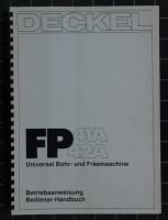 Deckel Betriebsanweisung / Bediener-Handbuch für FP41A/FP42A mit CNC2301 Steuerung