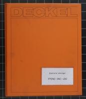 Deckel Elektrische Unterlagen FP2NC -3NC -4NC
