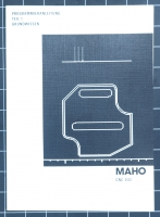 MAHO CNC 432 Programmieranleitung Teil 1 Grundwissen