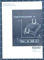 MAHO CNC 432 Programmieranleitung- und Bedienungsanleitung Version F 600
