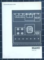 MAHO CNC 432 Bedienungsanleitung