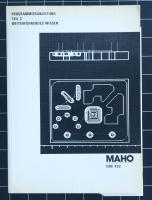 MAHO CNC 432 Programmieranleitung Teil 2 Weiterführendes Wissen