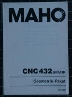 MAHO CNC 432 Grafik Geometrie-Paket