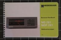 Heidenhain Benutzer-Handbuch ND281/NDP281 Id 284 251 05