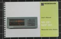 Heidenhain User´s Manual ND281/NDP281 Id 284 251-26